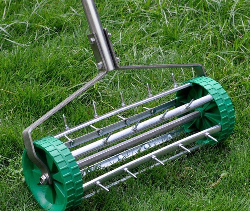 Efficient Operations with a Rolling Hand Lawn Aerator